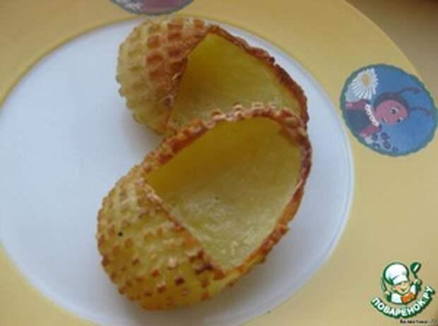 Лапти из картофеля с грибами и баклажанами Масло растительное