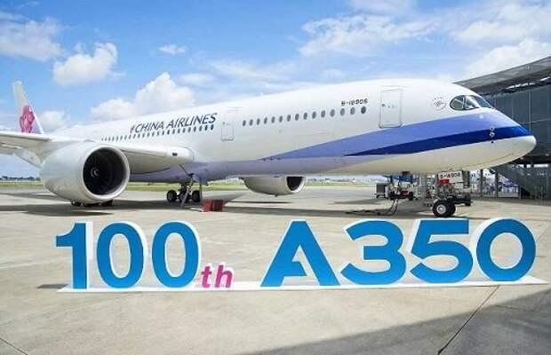 Airbus передал клиенту сотый A350 XWB
