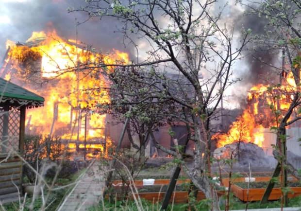 Всадовом товариществе под Екатеринбургом пожар, есть погибший