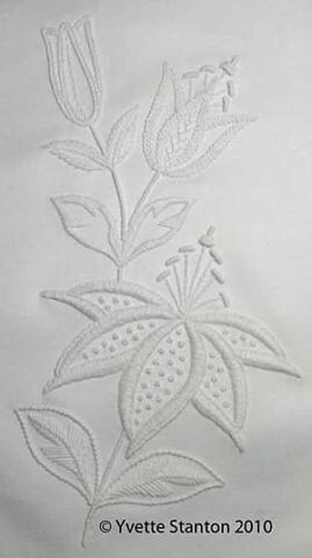 Бeлым по белому: вышивка