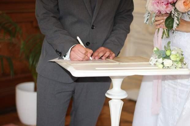 Букет, Руки, Любовь, Молодожены, Праздник, Свадьба