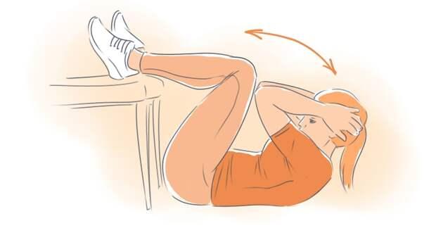 упражнения для похудения боков и живота