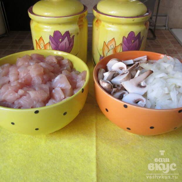 Куриные растрепки под сырной шубкой