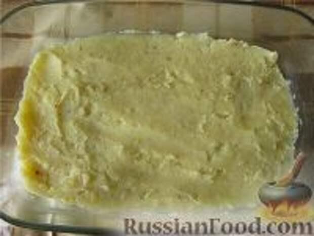 Фото приготовления рецепта: Картофельная запеканка с грибами постная - шаг №4