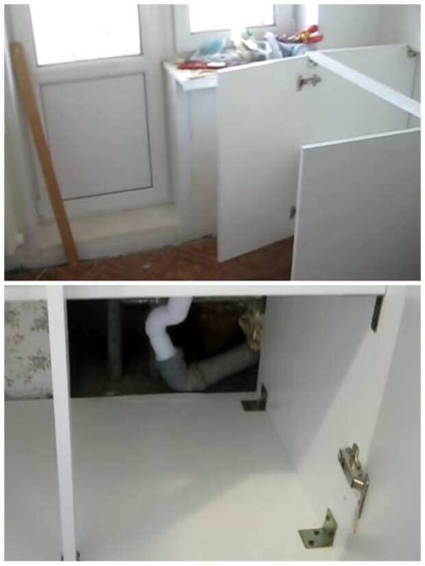 Для устойчивости новой мебельной конструкции все элементы тщательно были укреплены. | Фото: youtube.com.