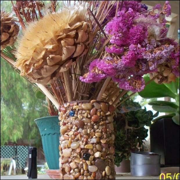 Самодельные цветочные вазы из консервных и пластиковых банок