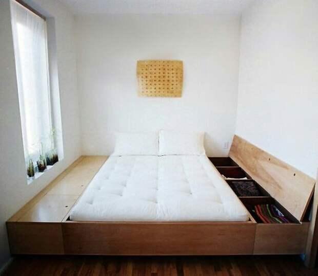 Полог для хранения с кроватью