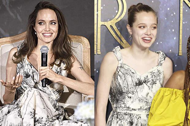 Шайло Джоли-Питт вышла в свет в перешитом платье своей матери Анджелины Джоли