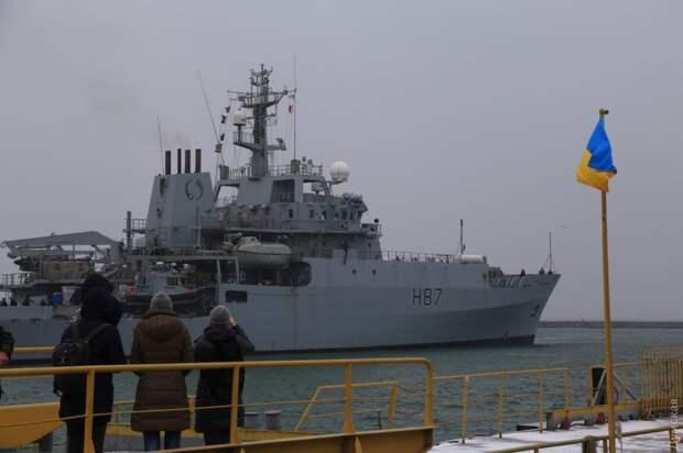 Разведывательный корабль ВМС Великобритании HMS Echo в Одессе. 19 декабря 2018 года.