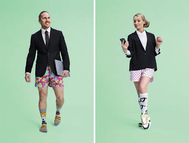 Без штанов: бренд изКанады представил свою версию одежды для работы издома