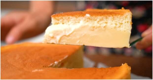Волшебный пирог, который при выпечке сам разделяется на бисквит и заварной крем