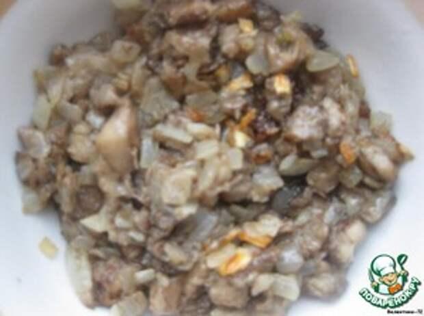 Лапти из картофеля с грибами и баклажанами Грибы