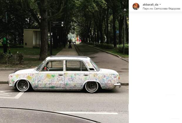 Фото: «осовремененный» ВАЗ у парка имени Святослава Федорова