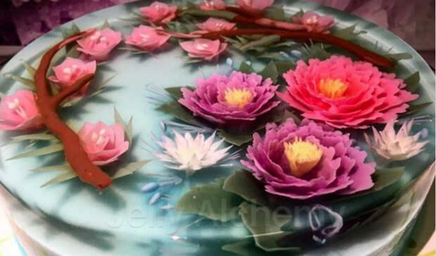 Дрожащее искусство: кондитер создает невероятные 3D-торты изжеле