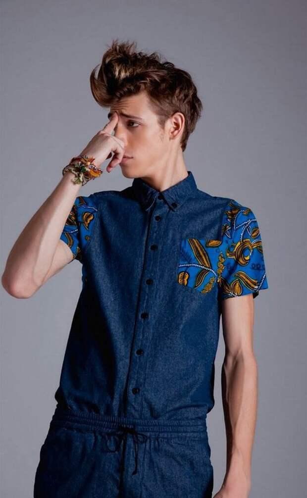 Двухцветные рубашки (подборка)