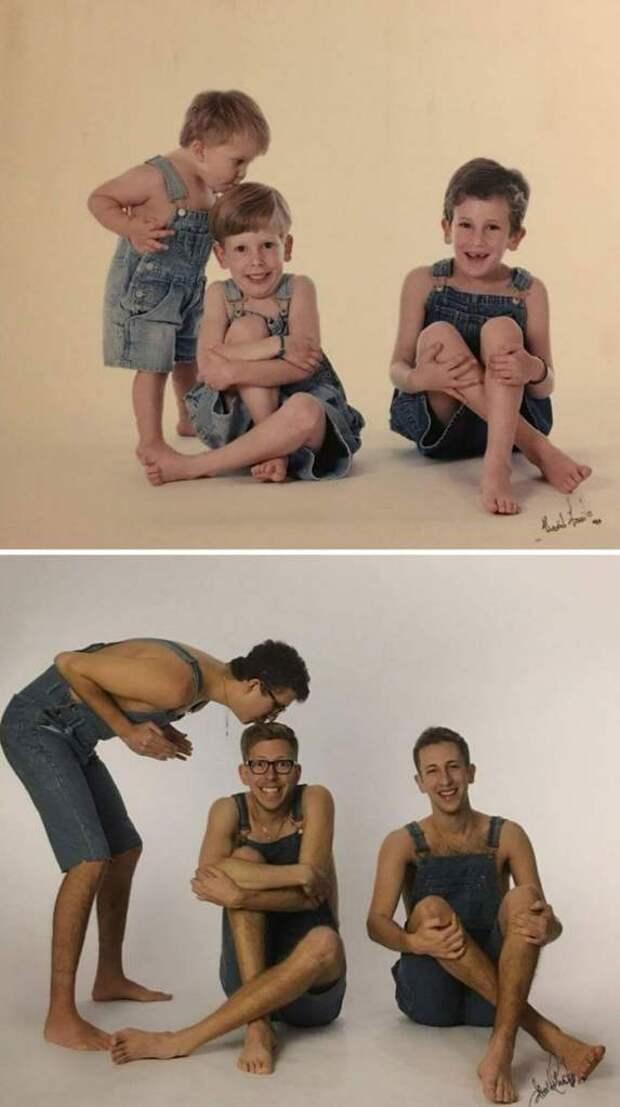 18 веселых попыток воссоздать старые снимки