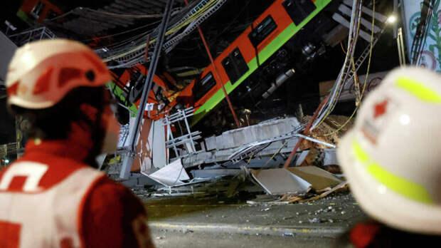 Жертвами крушения метромоста в Мехико стали уже 23 человека