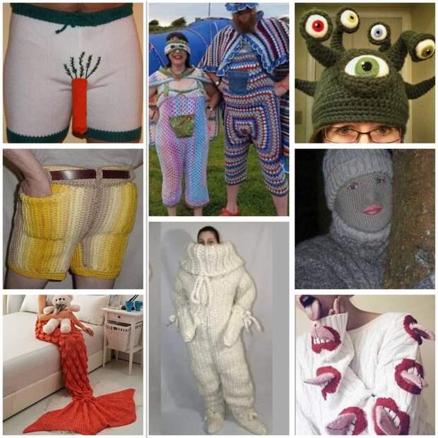 Креативные и забавные вязаные вещи. А вы бы такое носили?
