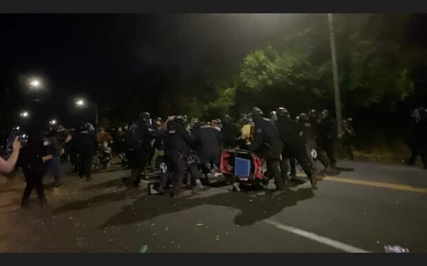 Протесты в Портленде. 10-12.08.2020