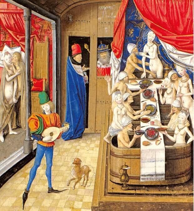 Нравы в европейских банях эпохи Средних веков