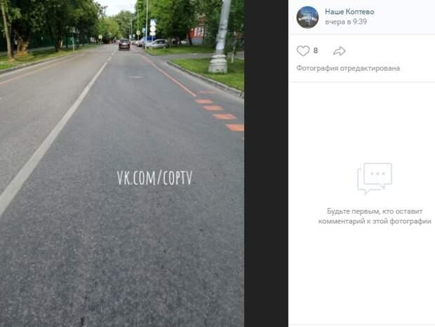 Временные велополосы появятся в 3-м Михалковском