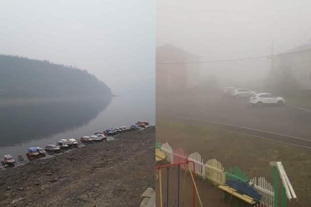 Красноярский край, Иркутск и Бурятию заволокло дымом от якутских пожаров