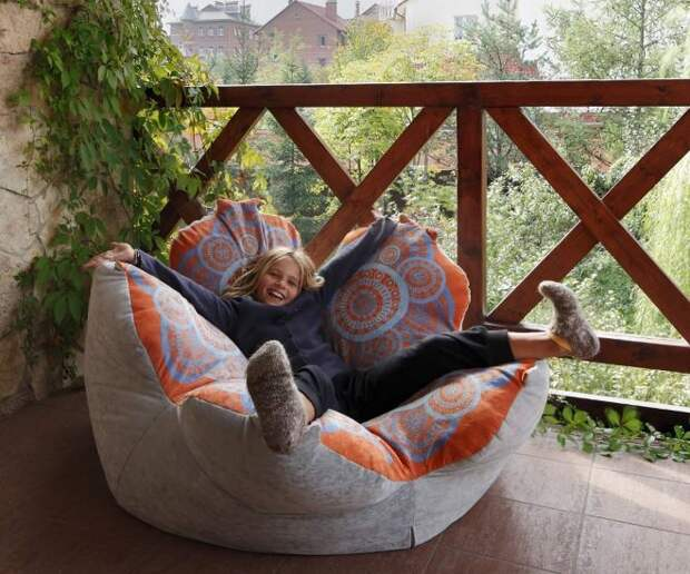 Кресло-мешок: удобное и оригинальное решение для интерьера (108 фото)