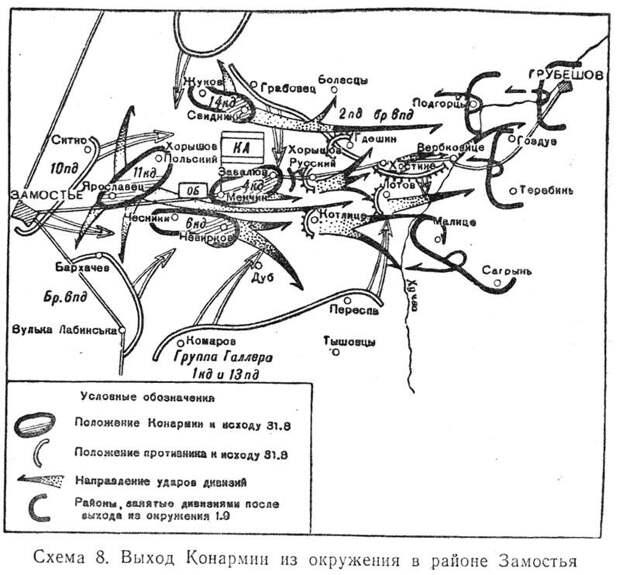 Битва при Комарове. Поражение 1-й Конной армии