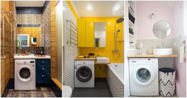 Раковина над стиральной машиной: продуманное решение для маленькой ванны