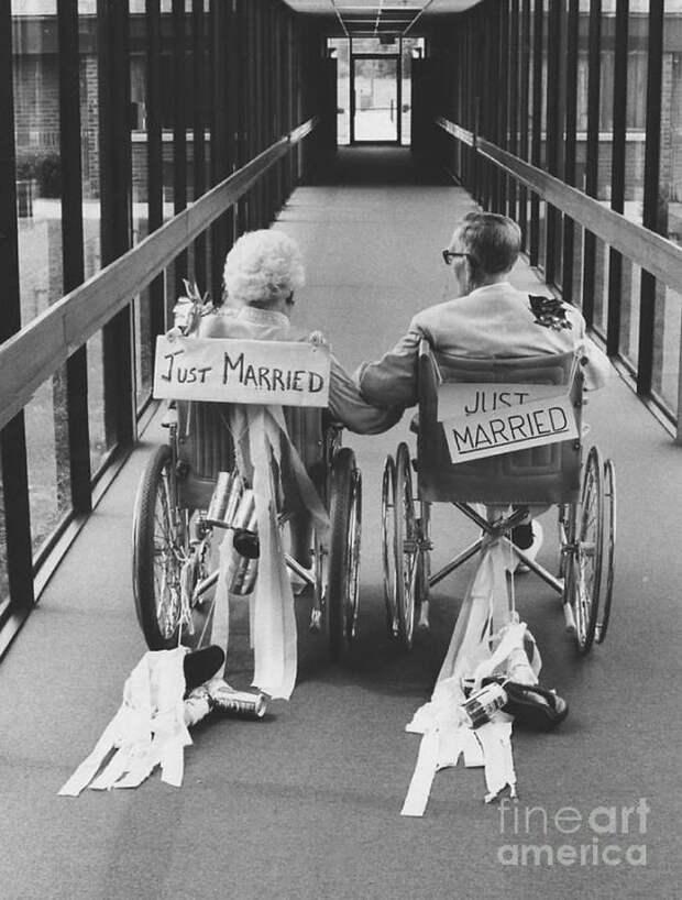 Любовь не ржавеет — свадебные фото пожилых пар любовь, отношения, старость