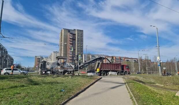 Подрядчик приступил кремонту очередного участка дороги вПетрозаводске