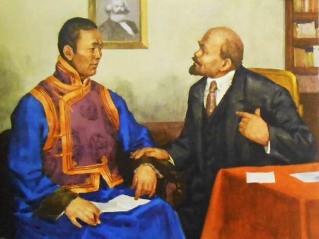 Неизвестный художник. Монголия и СССР. Истоки братской дружбы