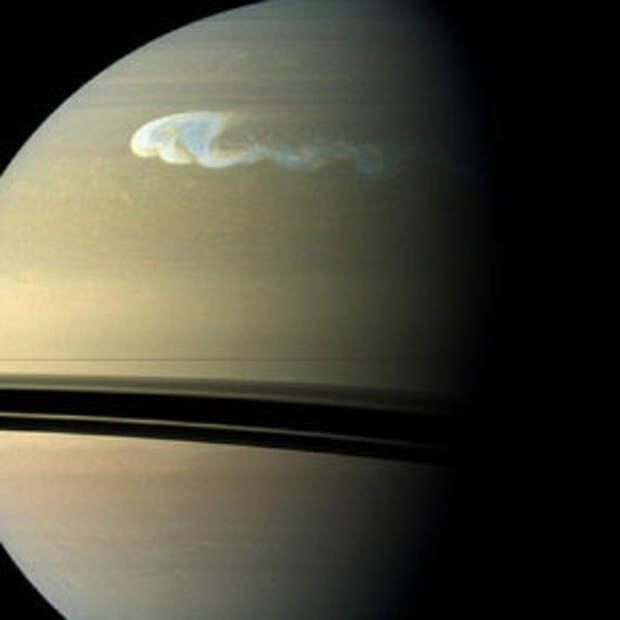 Сатурн: гигантские кольца и Луна, полная космических озер.