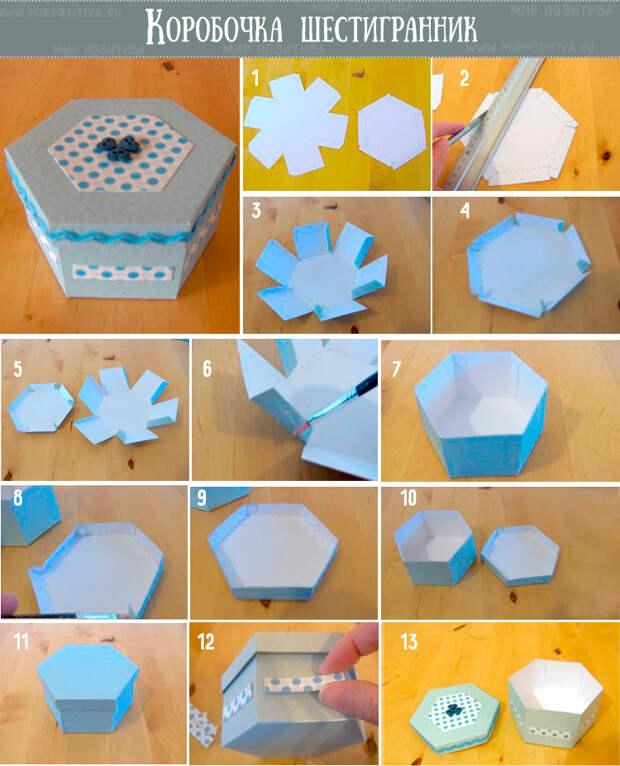 коробочка шестигранник