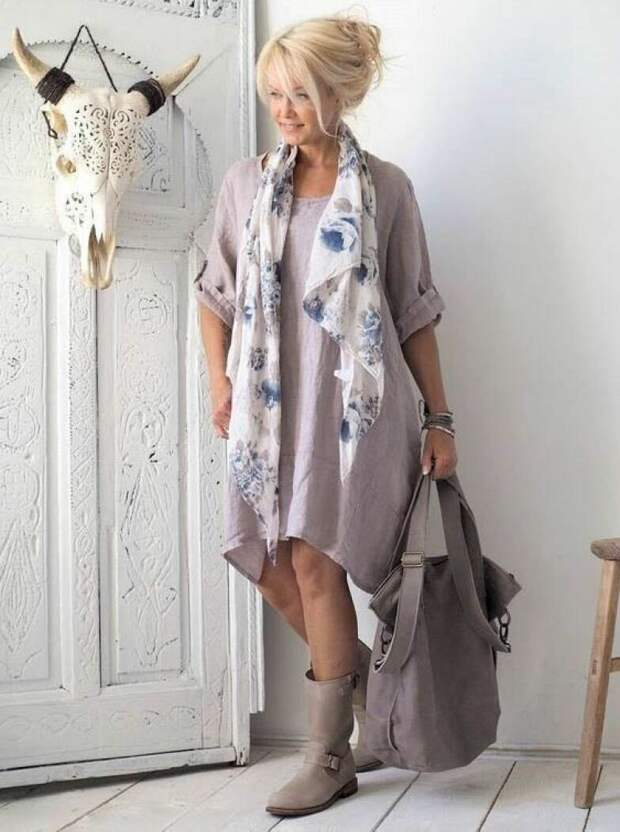 Осенний бохо стиль 2020 для женщин 40-50 лет: 11 оригинальных образов