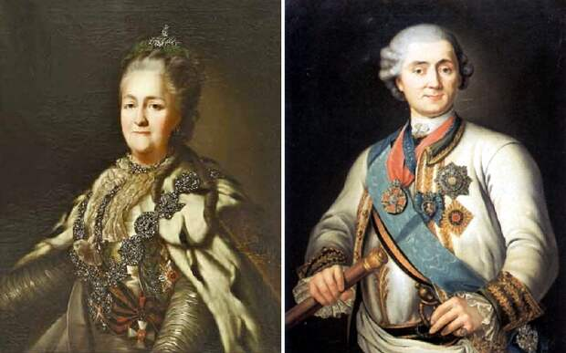 Императрица Екатерина II./ граф А.Г. Орлов-Чесменский.