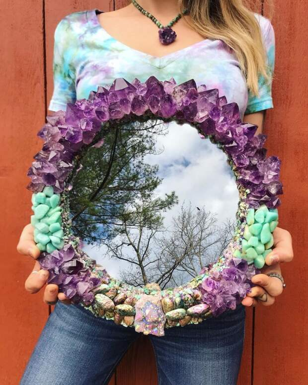 Полудрагоценные зеркала Меллори