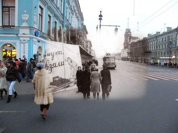 Ленинград 1944-2009 Невский проспект. Восстановление города блокада, ленинград, победа