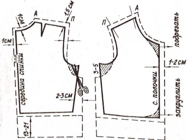 Жилет женский из ткани в клетку (Выкройка)