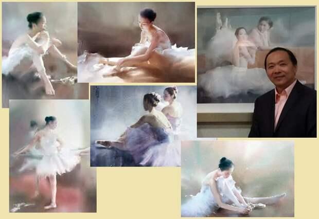 Китайский художник-акварелист Лю Йи.