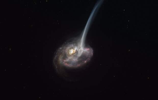 ALMA увидела гигантский отток газа из далекой галактики