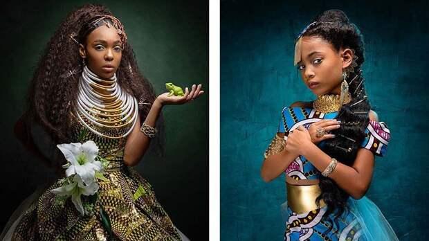 Какбы выглядели принцессы Диснея, еслибы были чернокожими