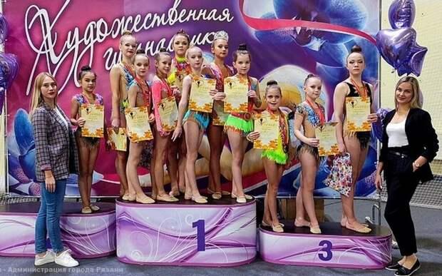 11 рязанских спортсменок вернулись с медалями после турнира по художественной гимнастике
