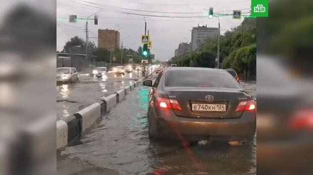 Красноярск затопило вслед за Ялтой: видео