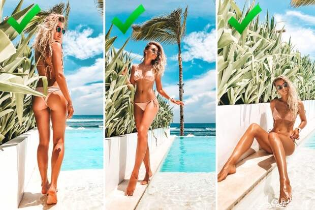 «Как будто худышка»: красотка с формами показала, как выглядеть на 10 кг меньше на летних фото