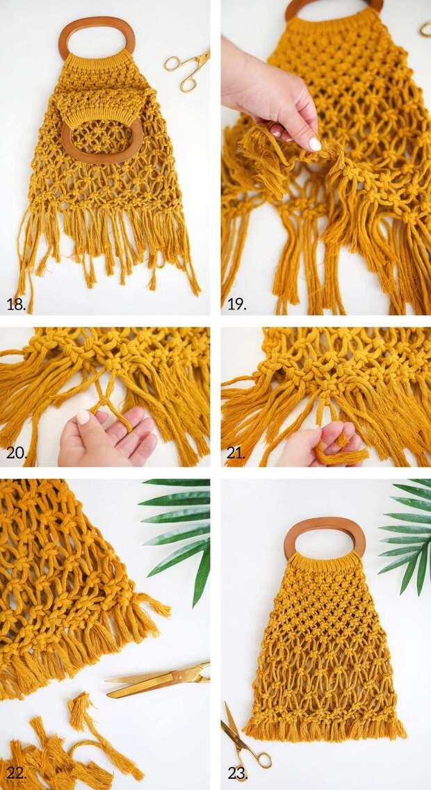 Трансформируем обычный клубок ниток в летний аксессуар для модного образа