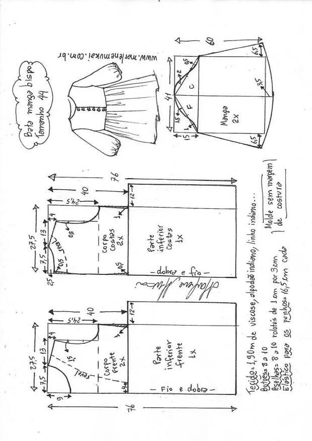 Выкройки летней блузы на жару