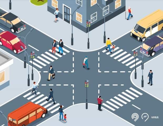 Диагональные пешеходные переходы в Щукине обозначат пунктиром