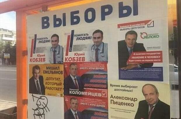 Предвыборные обещания: выбери меня, выбери меня...