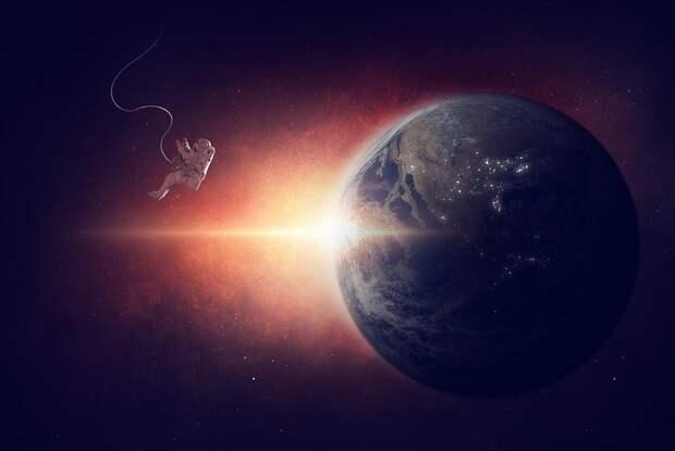 Астронавт, Невесомый, Пространство, Вселенной, Земли
